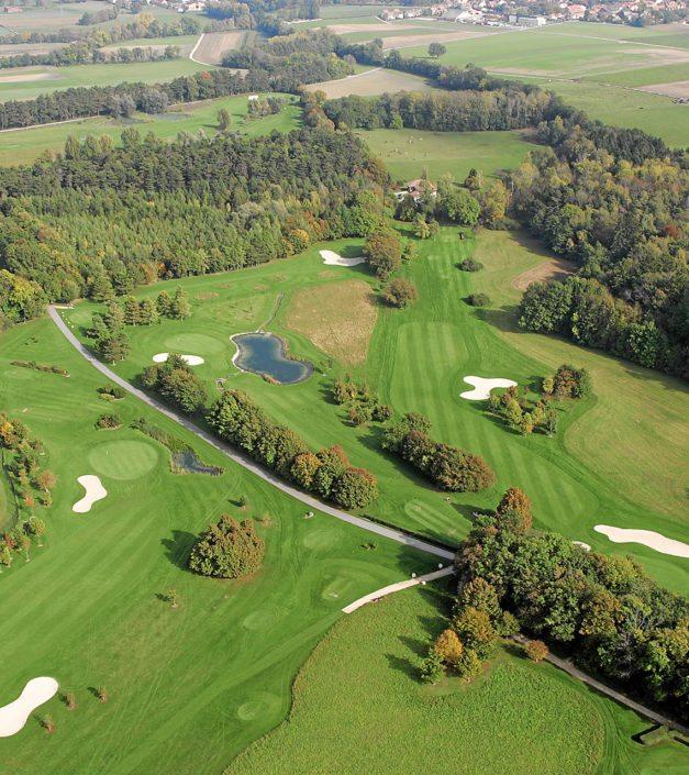 Vue aérienne drone Golf & Country Club Château de Bonmont