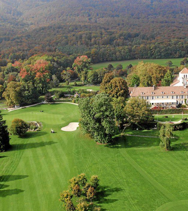 vue domaine parc château de Bonmont drone
