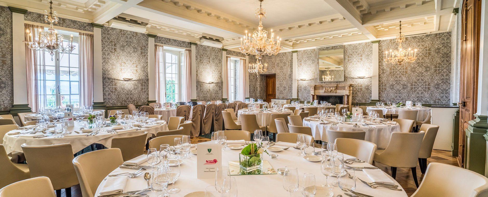 plan de table banquet château de Bonmont