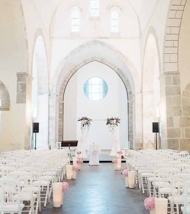 décoration Abbaye de Bonmont mariage