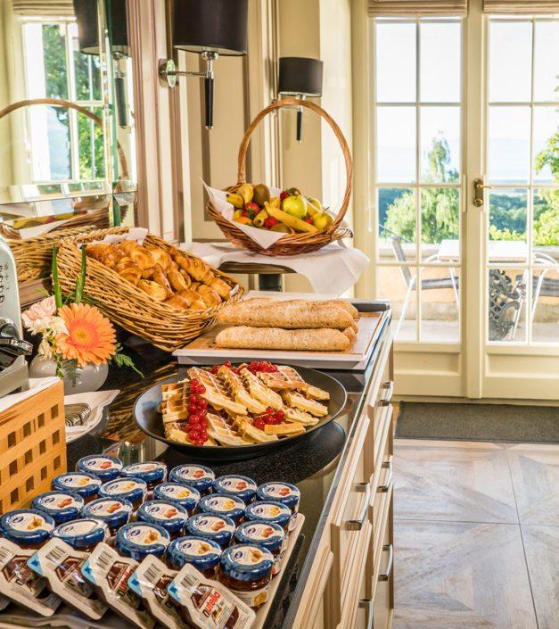 detail petit déjeuner restaurant château de Bonmont