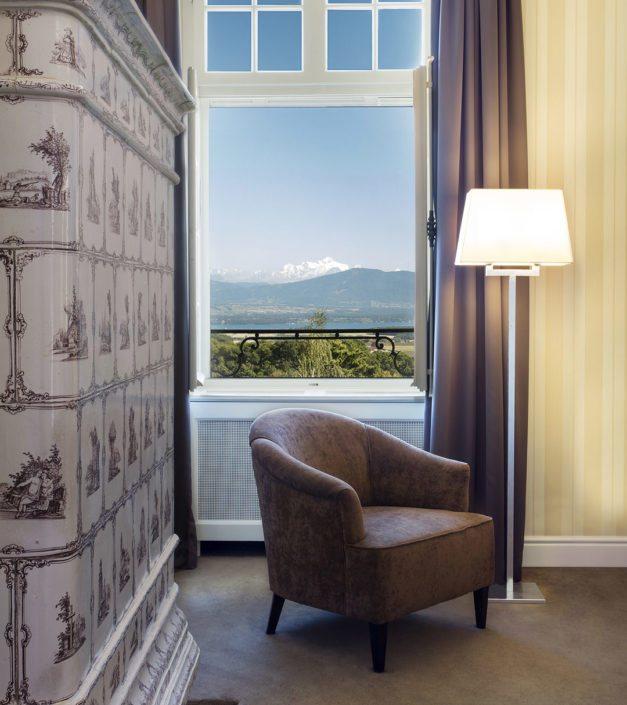 Chambre deluxe vue mont blanc fenetre