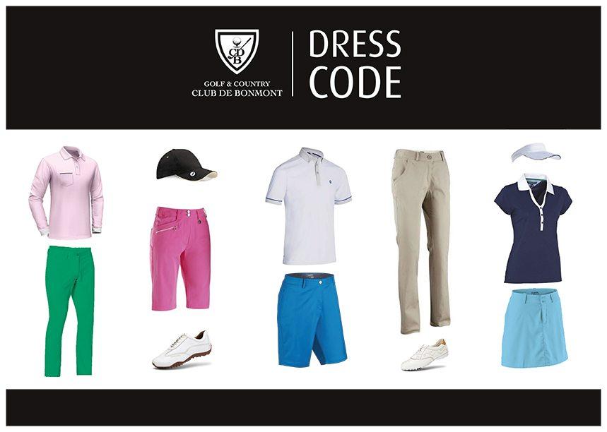 instructions dress code joeurs golf Bonmont