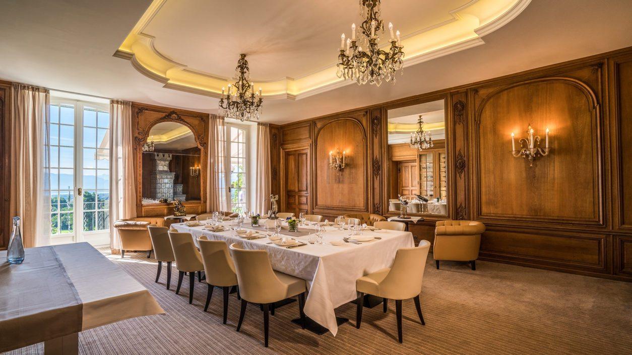 photo salle à manger château de Bonmont