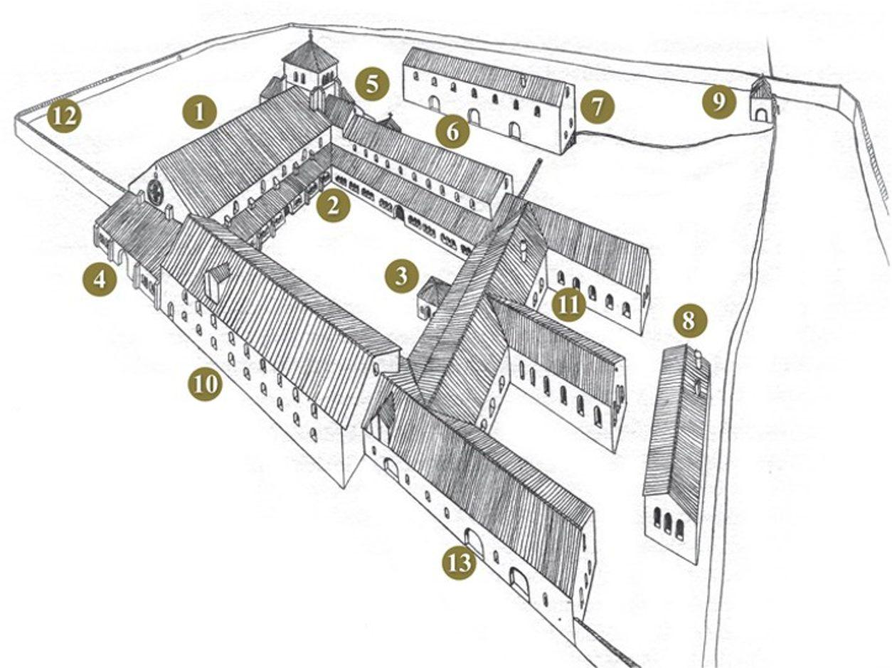 Plan points d'interets Golf & Country Club Château de Bonmont Abbaye de Bonmont