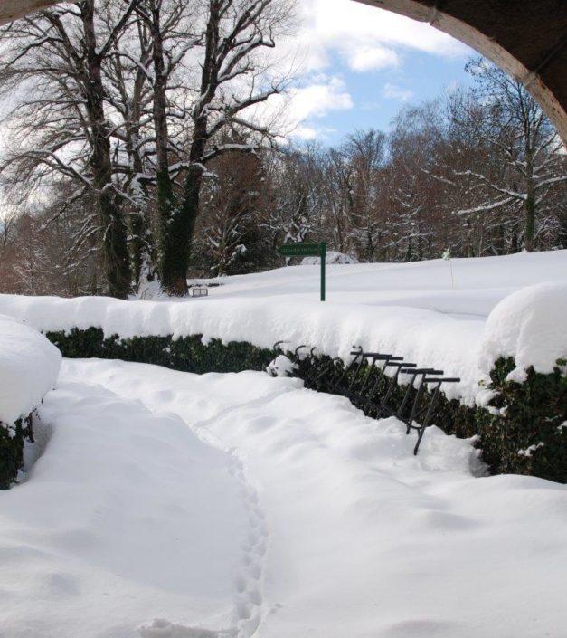 Bonmont sous la neige hiver