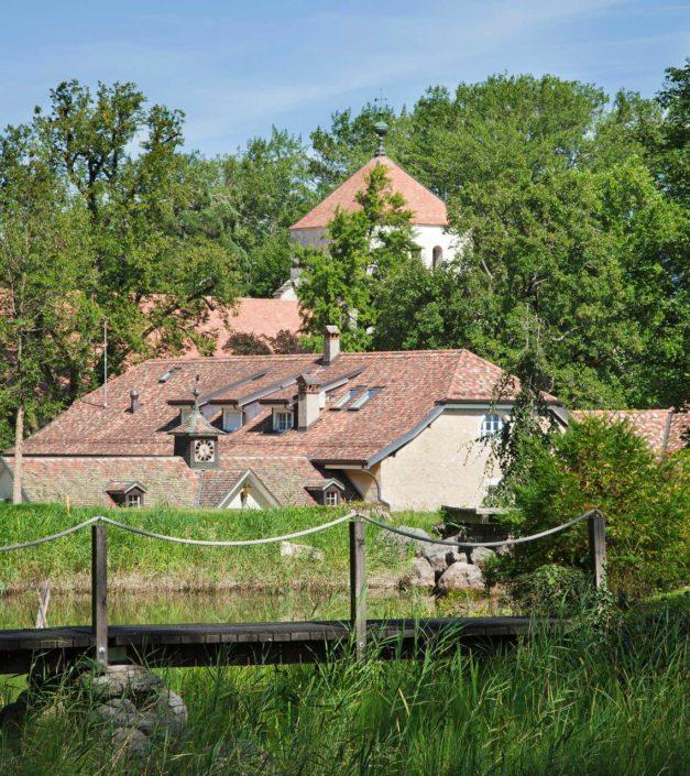 photo parc etange et Abbaye de Bonmont
