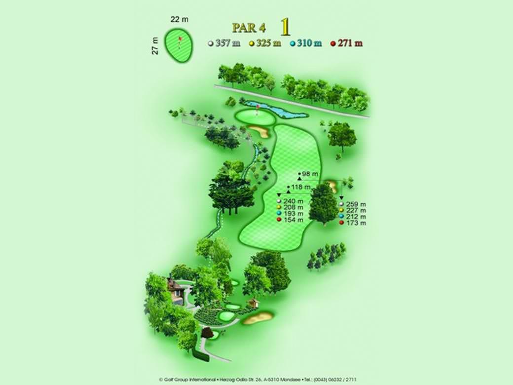 détail parcours golfique trou numero 1 Golf & Country Club de Bonmont