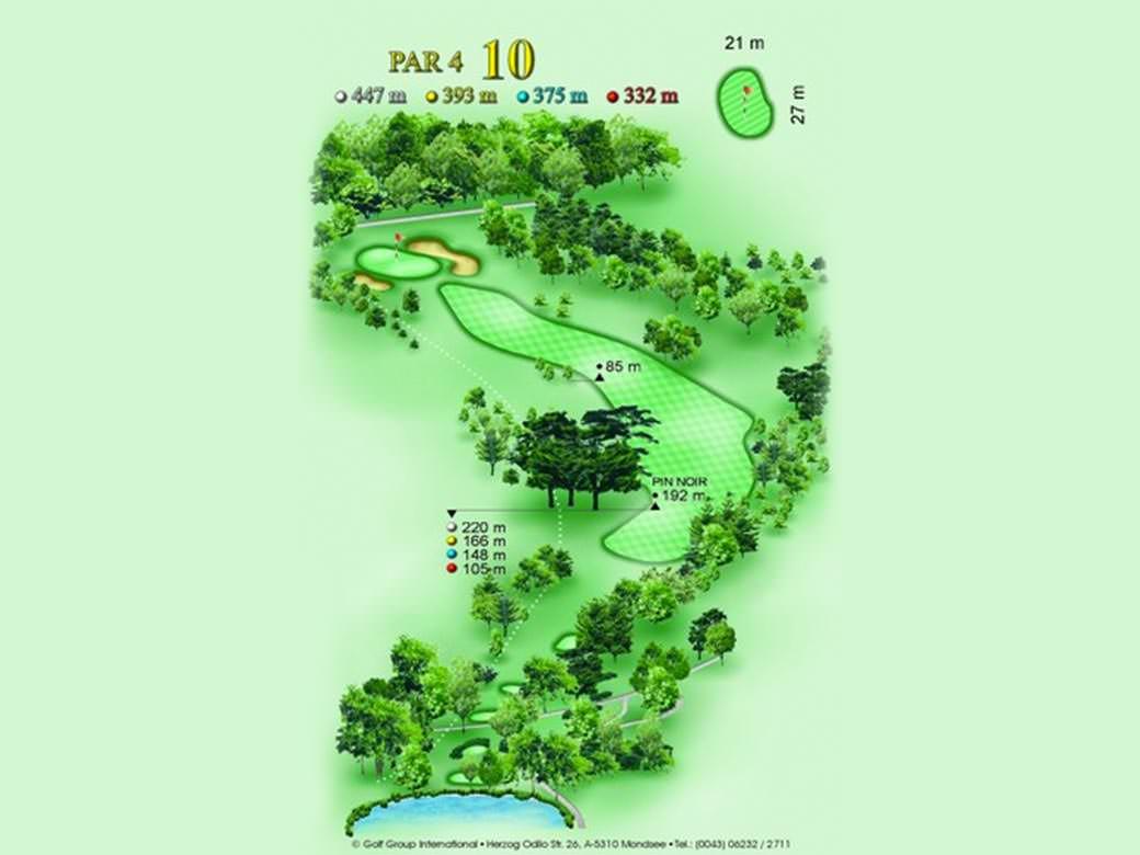 détail parcours golfique trou numero 10 Golf & Country Club de Bonmont
