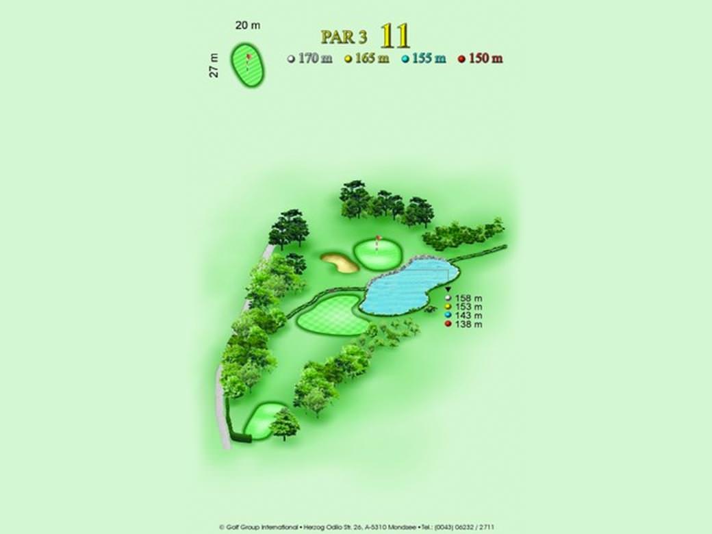 détail parcours golfique trou numero 11 Golf & Country Club de Bonmont