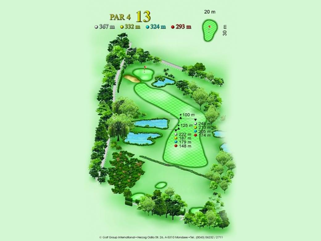 détail parcours golfique trou numero 13 Golf & Country Club de Bonmont