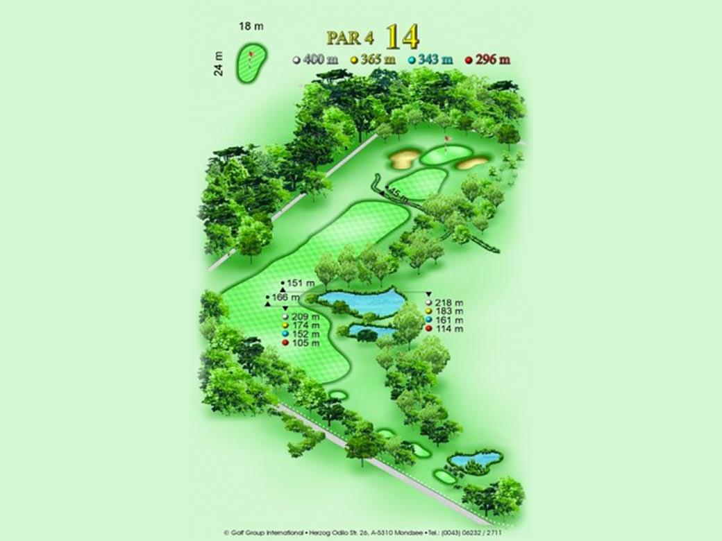 détail parcours golfique trou numero 14 Golf & Country Club de Bonmont