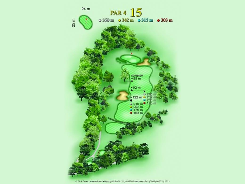 détail parcours golfique trou numero 15 Golf & Country Club de Bonmont