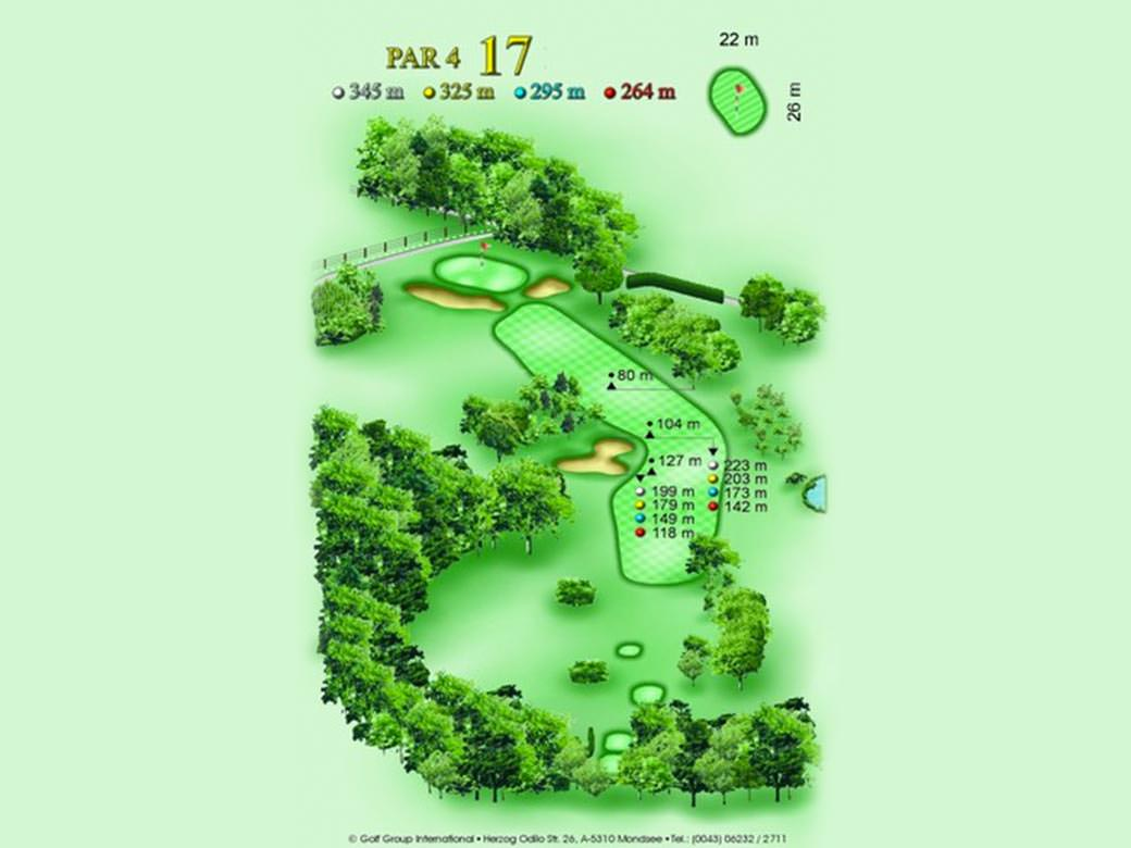 détail parcours golfique trou numero 17 Golf & Country Club de Bonmont