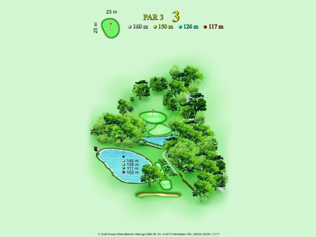 détail parcours golfique trou numero 3 Golf & Country Club de Bonmont
