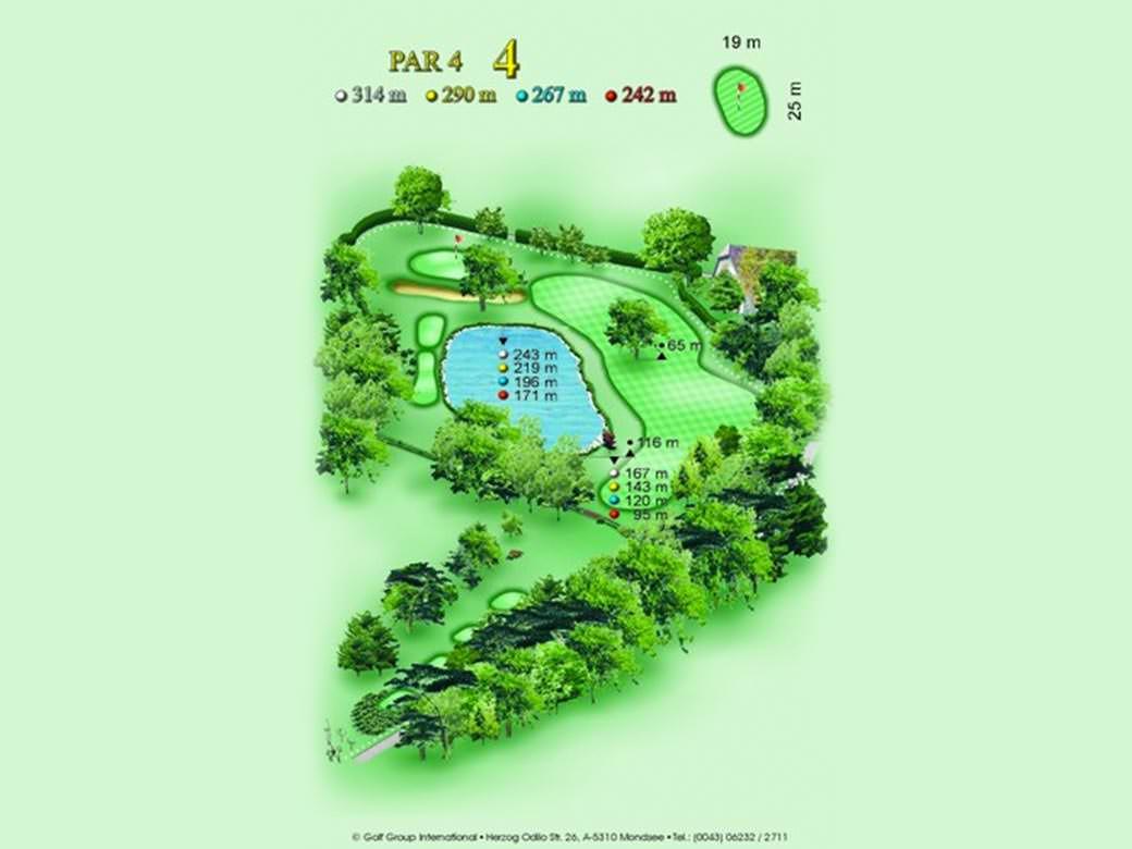 détail parcours golfique trou numero 4 Golf & Country Club de Bonmont