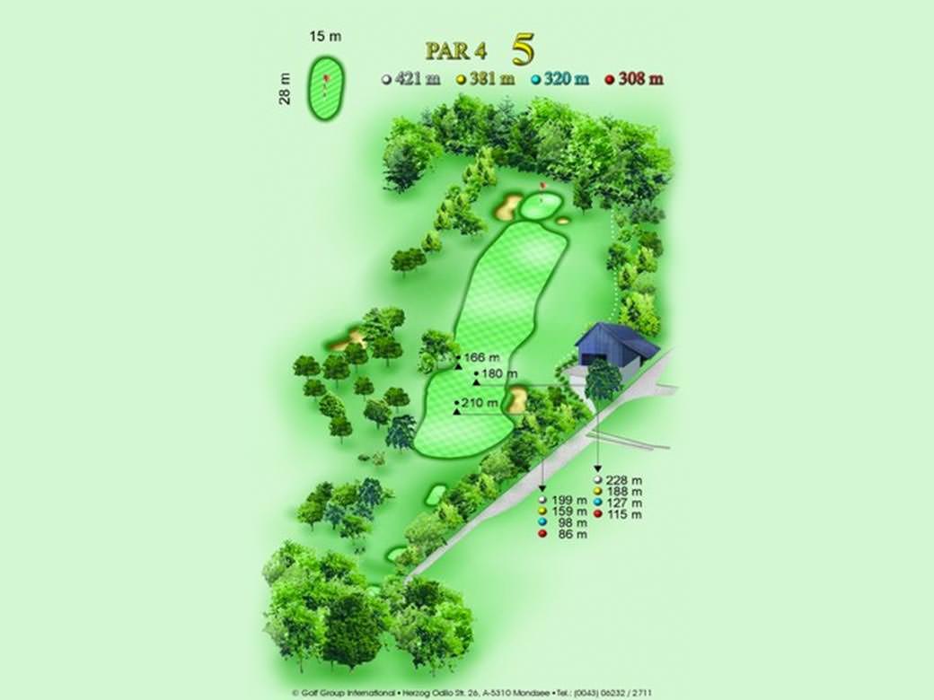 détail parcours golfique trou numero 5 Golf & Country Club de Bonmont
