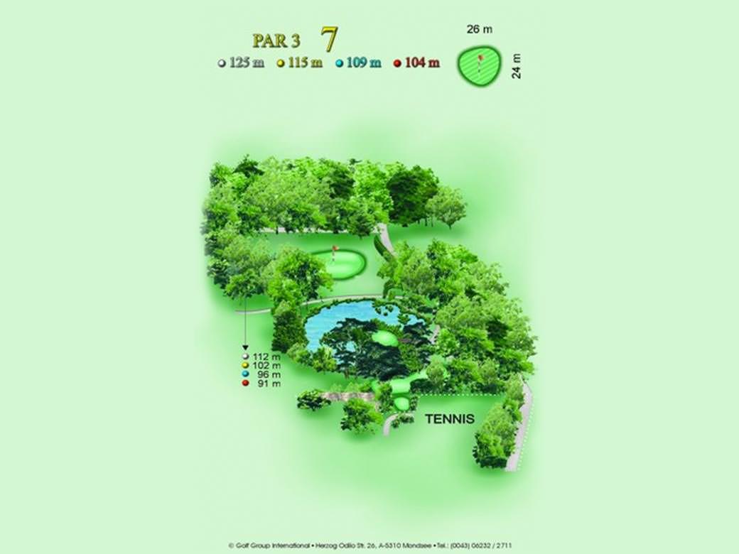 Golf & Country Club Château de Bonmont Golf Practice Trou 7
