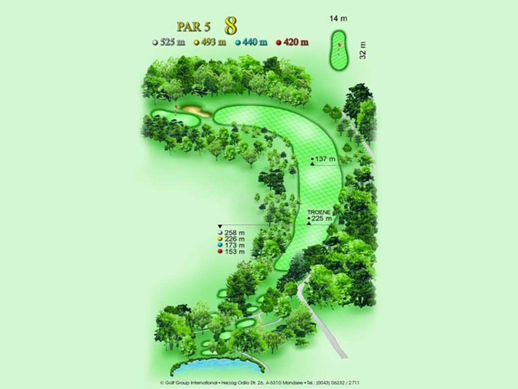 détail parcours golfique trou numero 8 Golf & Country Club de Bonmont