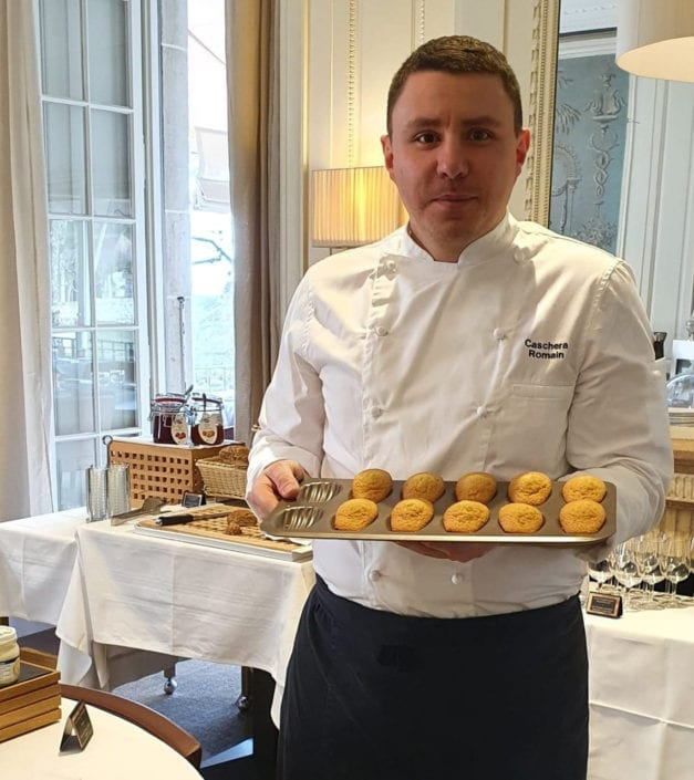 photo Romain Caschera Chef patissier Bonmont madeleines