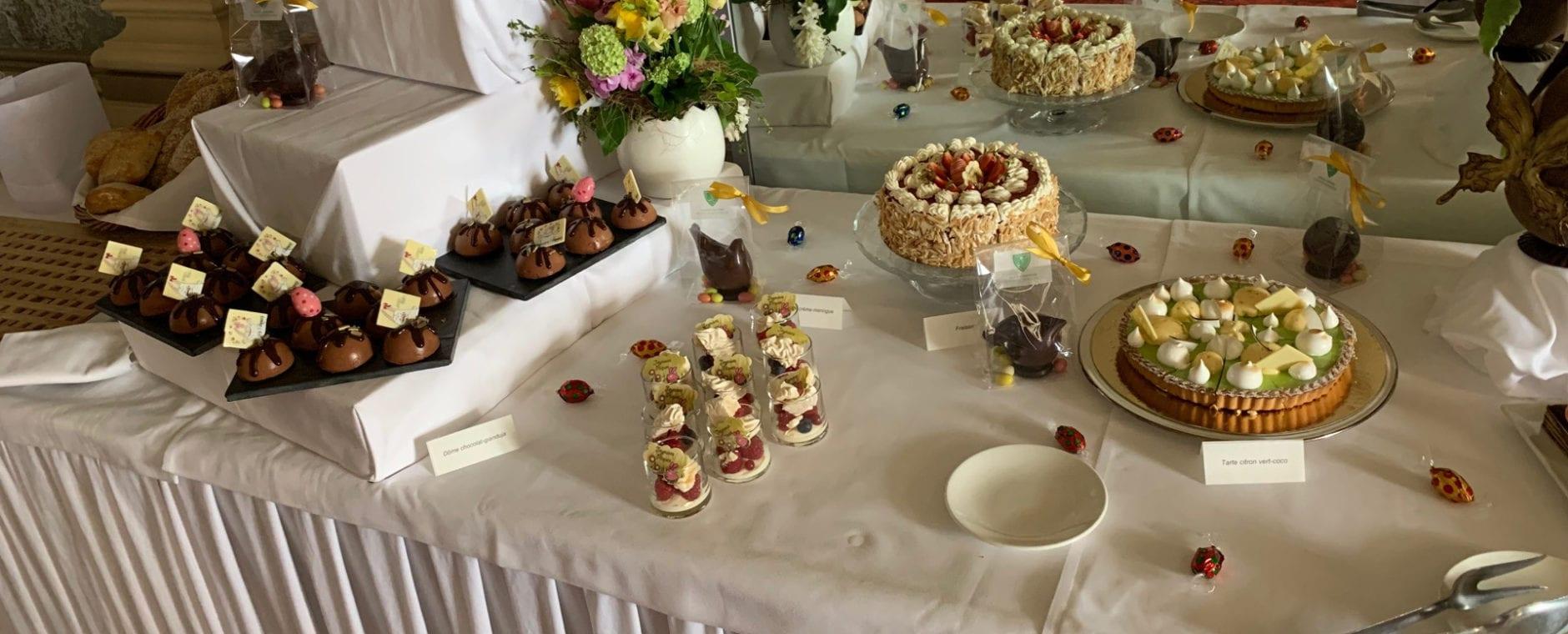 table des desserts banquet Bonmont
